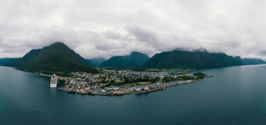 Andalsnes, Norway Pano